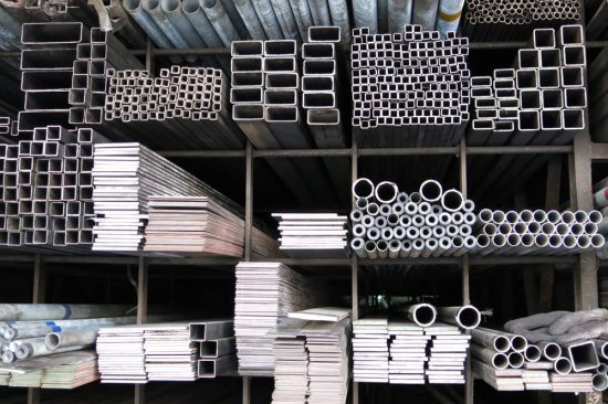 iron profiles and steel rods